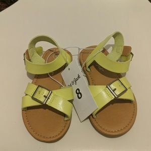 Cat & Jack lime green sandals size 8